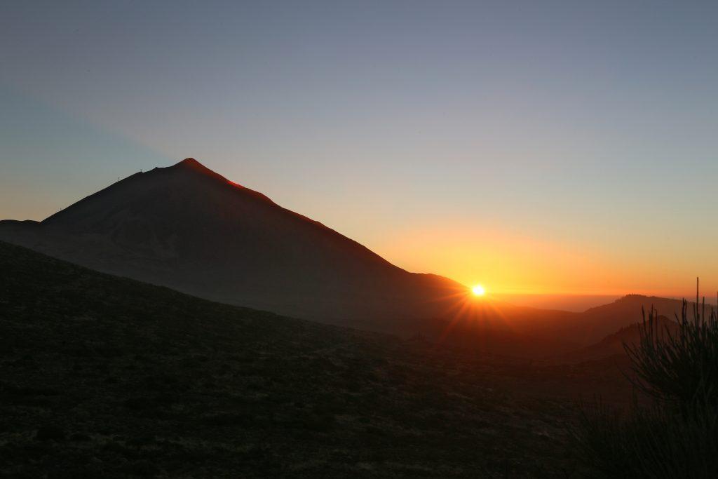 puesta de sol Teide