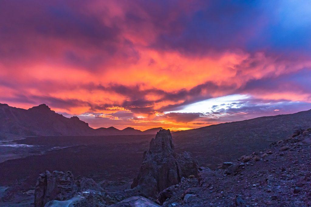 Teide puesta de sol