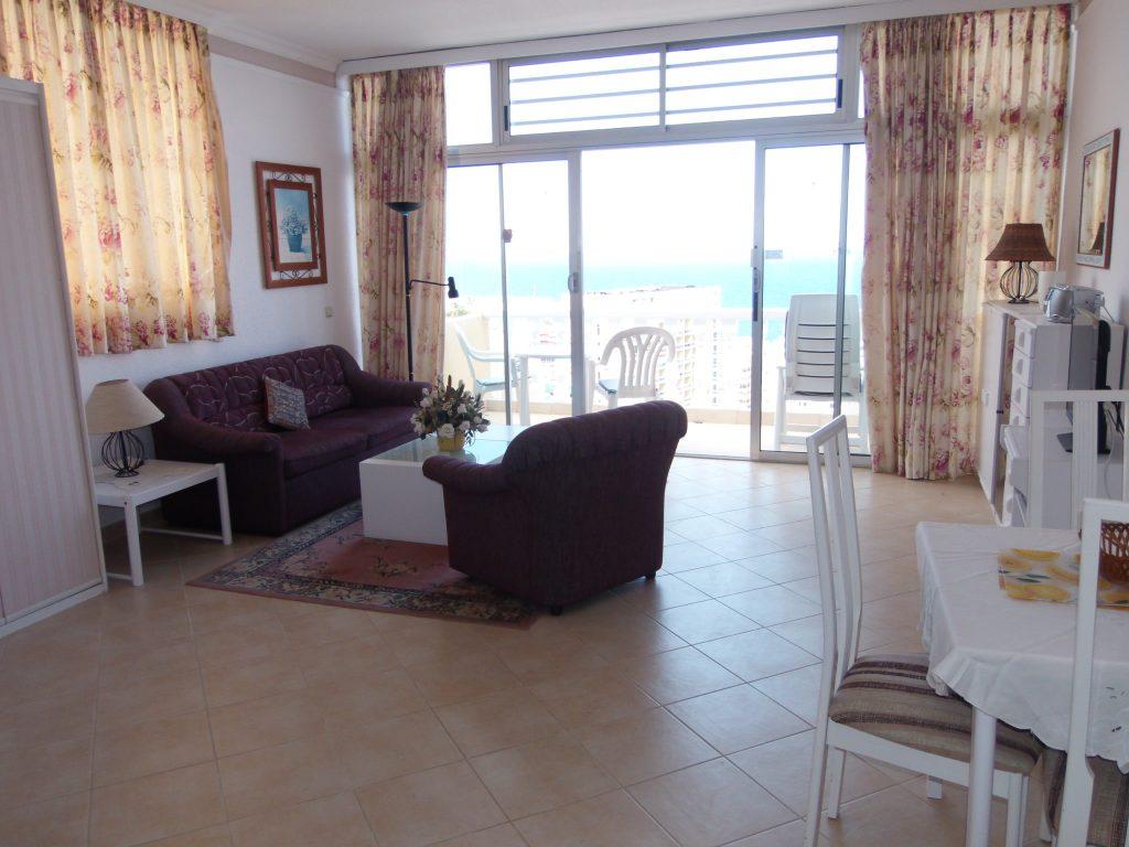 salon con terraza